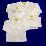 0102 – Propínací kojenecká košilka mako, cena 105,- Kč