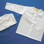 0104 – Propínací kojenecká košilka plátno, cena 105,- Kč