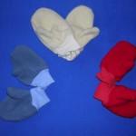 Palečkové fleece rukavice, cena 95,- Kč